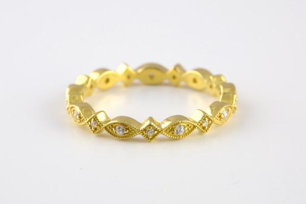 Eye Ring Gold